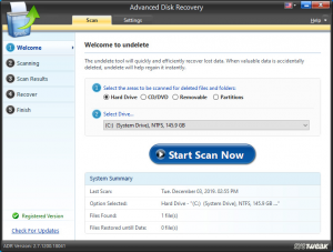 Systweak Advanced Disk Recovery Crack 2.7.1200.18041 With Activation Key